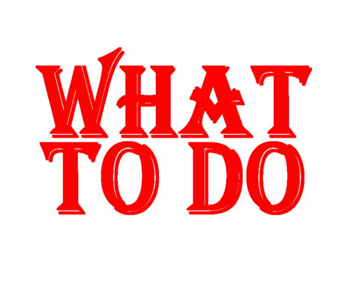 What to do red