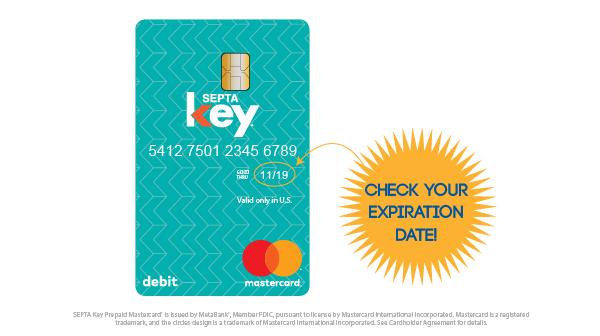 septa key card expiration date