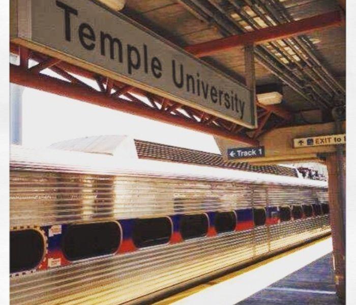 Temple u train rail ig