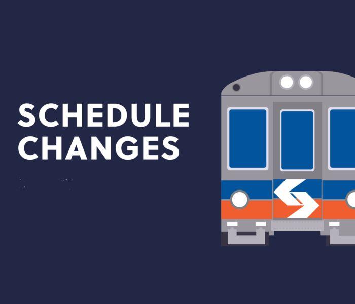 Regional rail schedule changes
