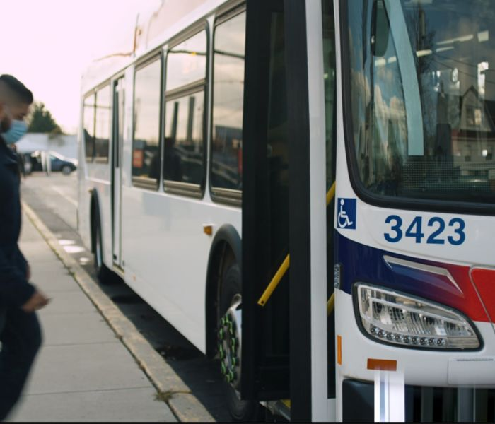 Kyle on bus