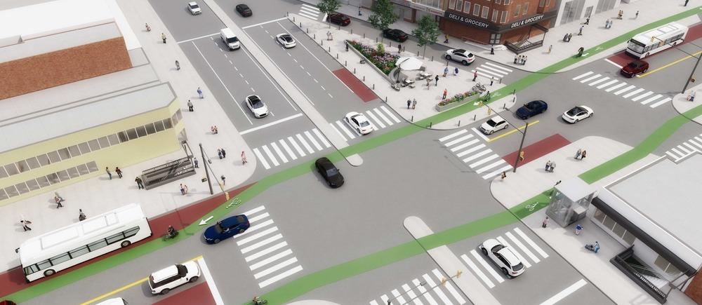 Erie station presentation conceptual renderings street