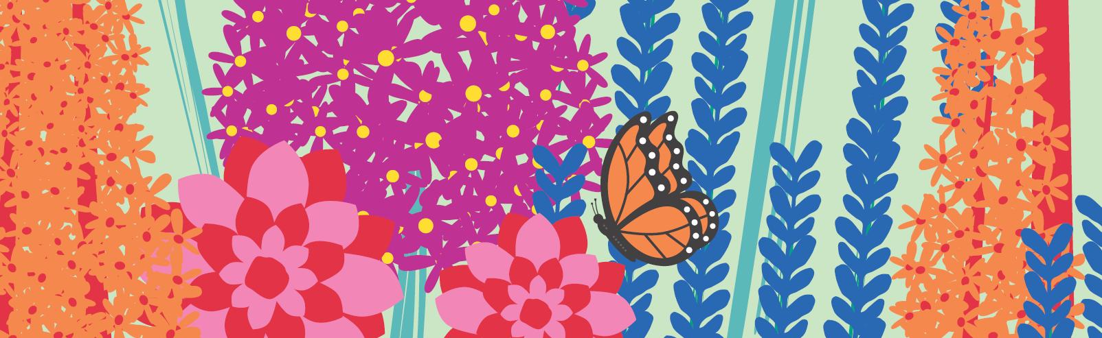 Flower show banner
