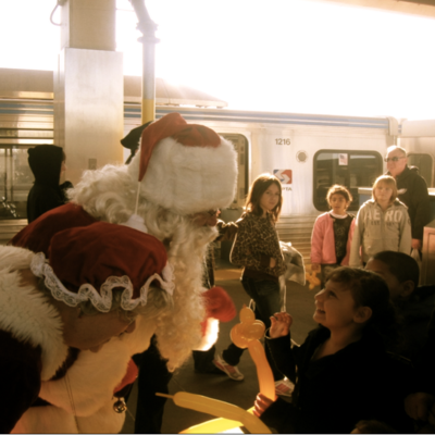 Santa kid train