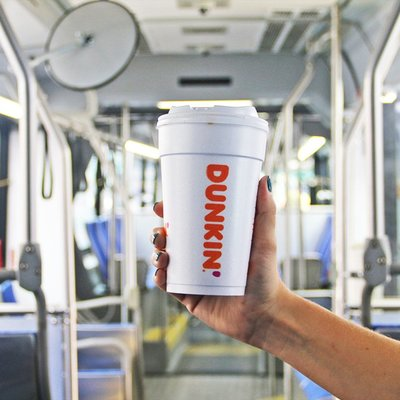 Dunkin bus cup